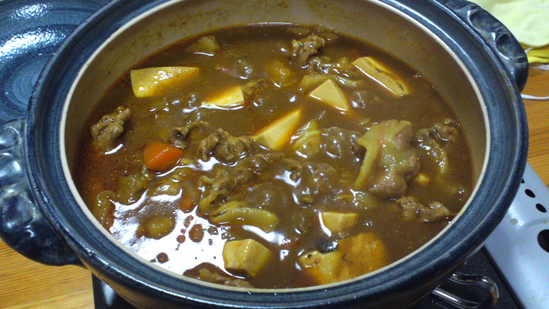7プレミアムのカレー鍋食べりゅ